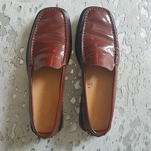 Tod's Moccasin Loafer Driving Shoe Cognac Sz40